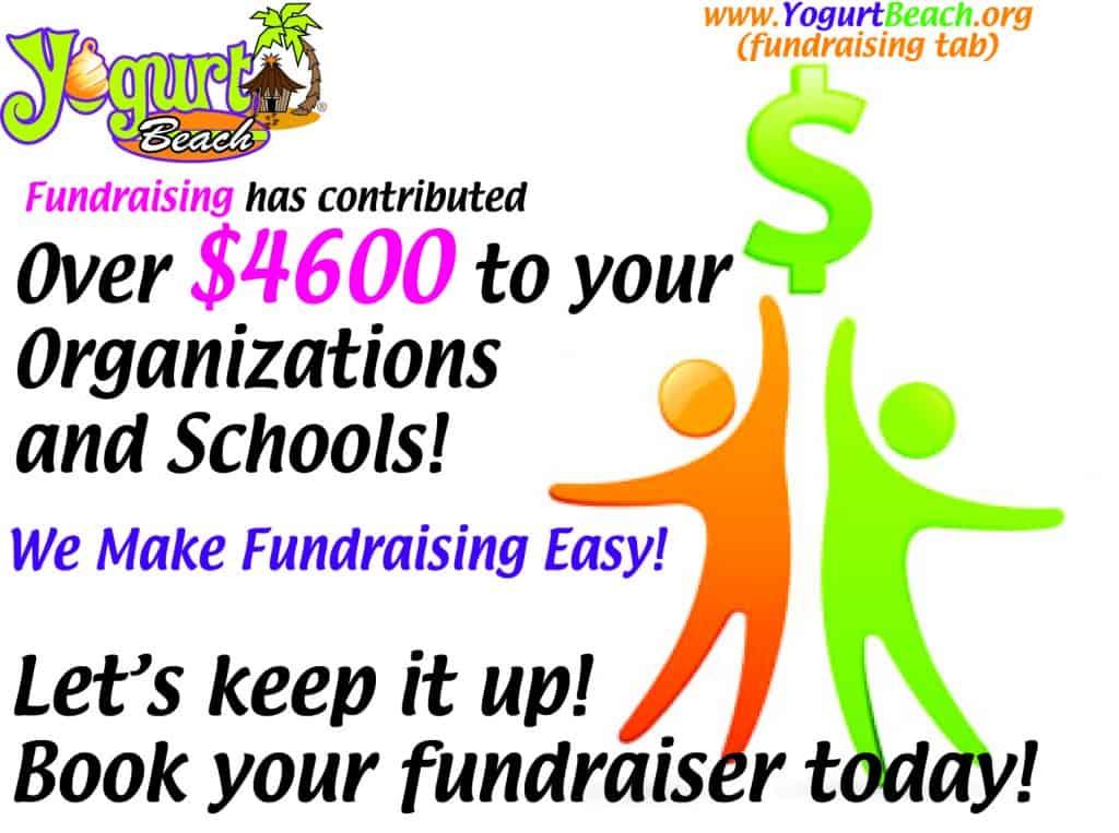 Fundraising contributions: $4600 !