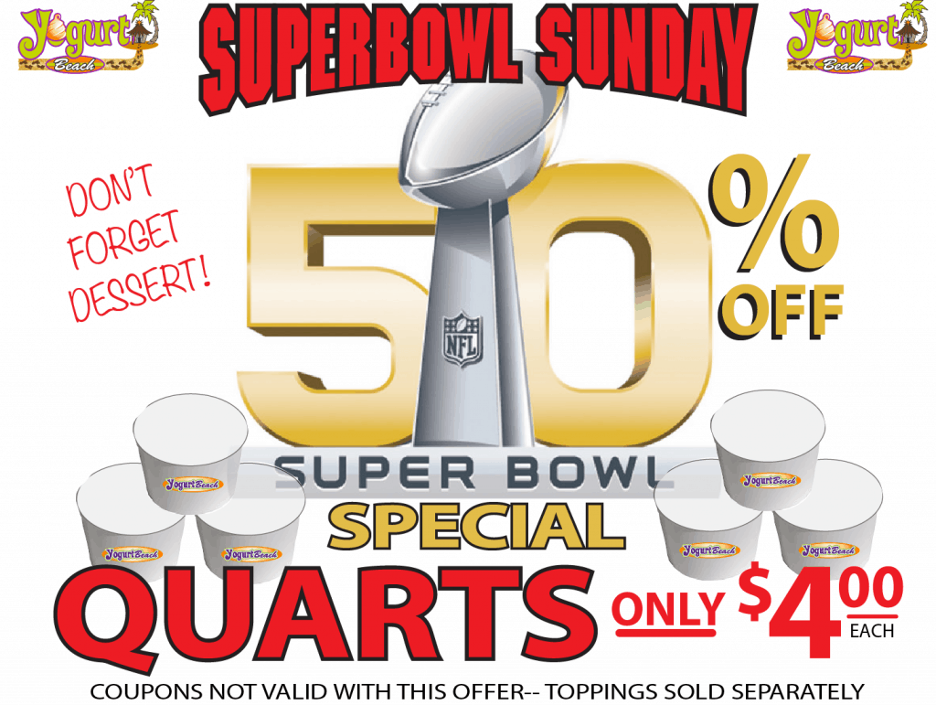 SUPERBOWL SUNDAY 50QRTS